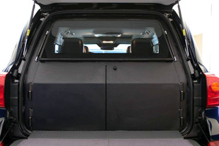 Lightweight armour adapted to armoured Range Rover's original interior