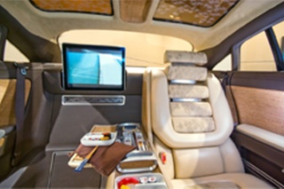 Luxurious interior of armoured vehicle