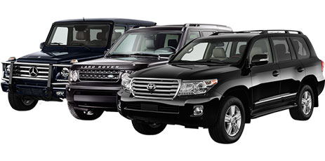 Armoured Mercedes-Benz G63, armoured Land Rover Discovery and armoured Toyota Land Cruiser. бронированный внедорожник